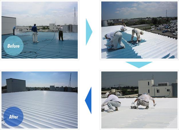足立区 屋根塗装工事例