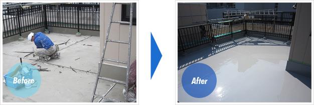 足立区 屋上防水工事例